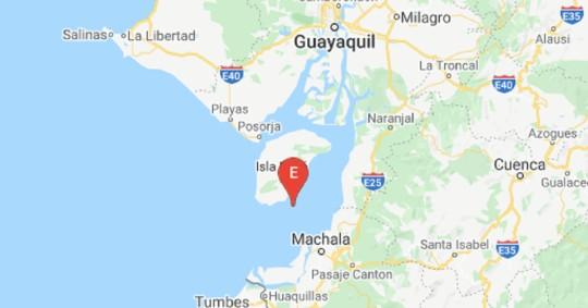 Sismo de magnitud 4,12 se registró frente a las costas de El Oro / Foto: Cortesía del Institutio Geofísico de la Escuela Politécnica Nacional
