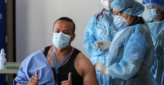 Covid-19: Unas 6.000 personas han sido vacunadas en Ecuador / Foto EFE