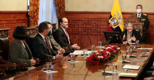 Lasso aborda con el FMI y el BID cómo potenciar su relación/ Foto: EFE