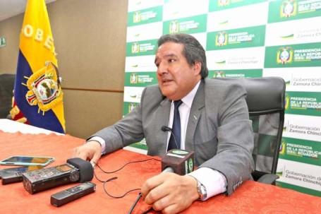 ACTIVIDAD. El gobernador informó sobre la visita del vicepresidente a Zamora Chinchipe. Foto: La Hora