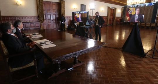 Guillermo Lasso ve indispensable la integración para recuperación/ Foto: Cortesía Presidencia