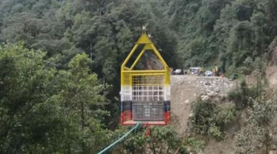 Prefectura de Napo habilitó tarabita por cierre de la vía Baeza - Tena -  Foto: El Comercio