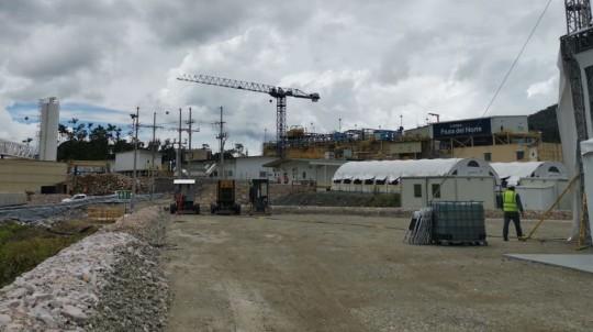 Vista general del proyecto minero Fruta del Norte, en la provincia de Zamora Chinchipe, el pasado 14 de noviembre de 2019. - Foto: Wilmer Torres, Primicias