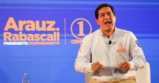 El Consejo Electoral de Ecuador aprueba la candidatura correísta de Arauz  / Foto: EFE
