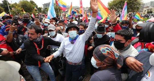 Yaku Pérez asegura que hay más de 16.000 actas con inconsistencias / Foto EFE