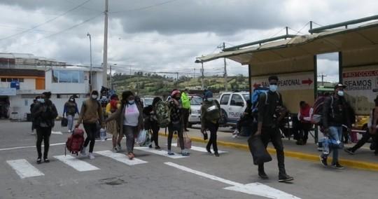 Haitianos, la nueva cara de la migración que atraviesa Ecuador / Foto: EFE
