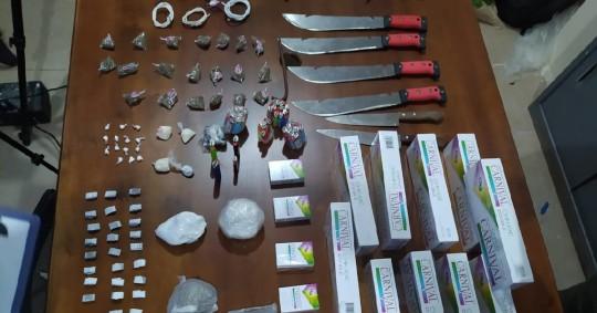 Armas y drogas fueron decomisadas en la cárcel de Sucumbíos  / Foto: EFE