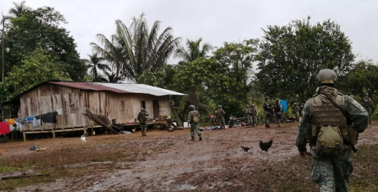 Las Fuerzas Armadas encontraron base clandestina en San Lorenzo / Foto: Fuerzas Armadas