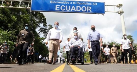 Ecuador y Colombia refuerzan cooperación y rechazan la situación de Venezuela / Foto: EFE