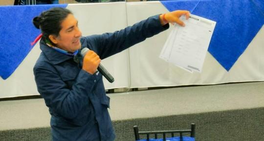 Yaku Pérez debe sustentar denuncia de fraude esta semana / foto cortesía Twitter Yaku Pérez