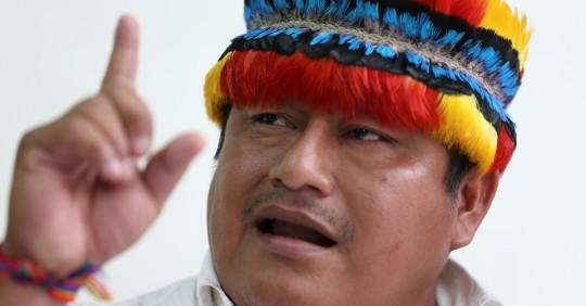 Jaime Vargas apoya al candidato correísta / Foto: EFE