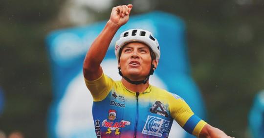 El Carchi celebra con Caicedo a su segundo ídolo del Giro / Cortesía de ESPN Bike