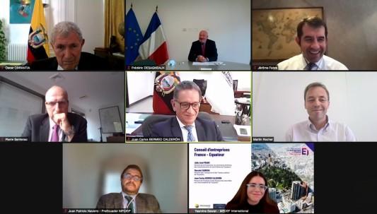 """En el foro """"Ecuador y Francia al Encuentro"""" se promocionaron 3 sectores / Foto: cortesía Ministerio de Energía"""