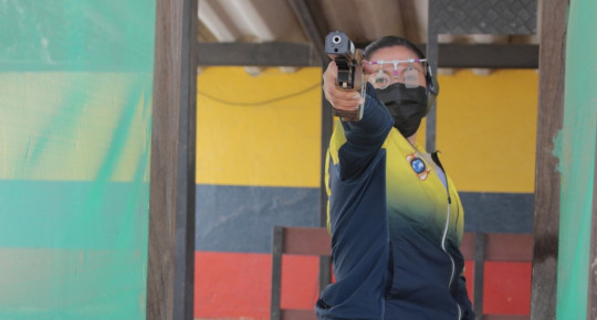 Diana Durango, la primera militar ecuatoriana en llegar a unos Juegos Olímpicos / Foto: cortesía Ministerio del Deporte