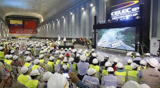 La china Sinohydro, que ejecutó la obra, debe indemnizar al Estado ecuatoriano, dice Contraloría. Foto: El Comercio