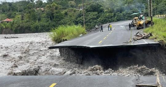La lluvia causa estragos en Morona Santiago / Foto: Cortesía ECU 911 Macas
