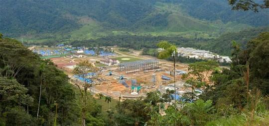 El proyecto minero Mirador, ubicado en la provincia de Zamora Chinchipe, inauguró la producción de cobre a gran escala en el Ecuador en 2019.  Foto: El Telégrafo