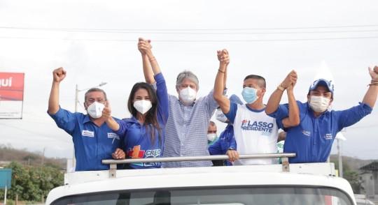 Arauz y Lasso pasan a la segunda vuelta / Foto cortesía Guillermo Lasso