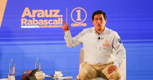 Andrés Arauz pide vigilancia internacional tras retraso en aprobación. Foto: EFE