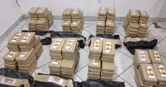 Fuerzas Armadas decomisan media tonelada de droga en Sucumbíos / Foto: Cortesía de las Fuerzas Armadas