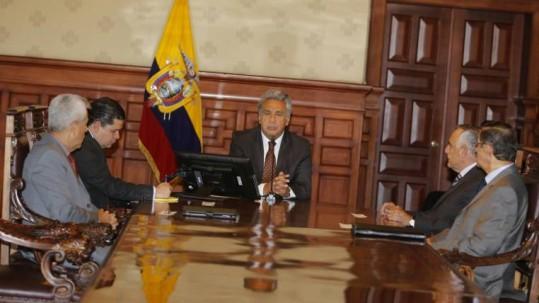 Reunión del Consejo de Seguridad del presidente Lenín Moreno. Foto: El Comercio