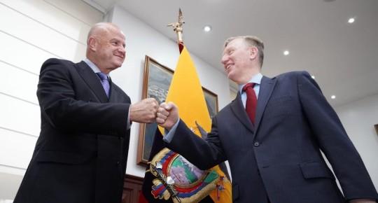 Estados Unidos dona 2 millones de vacunas Pfizer a Ecuador / foto cortesía Vicepresidencia