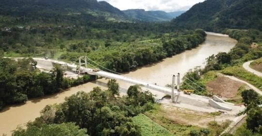 Lundin Gold inauguró puente sobre el río Zamora/ Foto: Lundin Gold