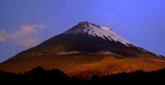 IG advierte posible caída de ceniza desde el volcán Sangay / Cortesía del Instituto Geofísico de la Escuela Politécnica Nacional