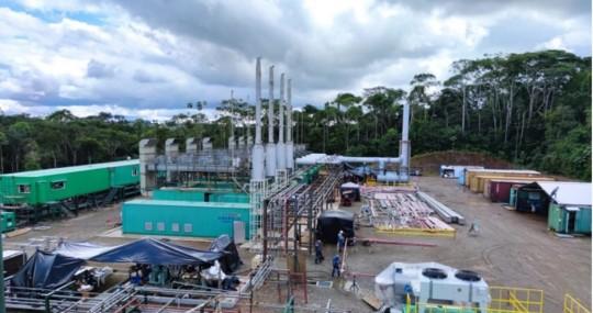 Central Cuyabeno inició la entrega de energía eléctrica al Bloque 58 / Foto: Petroecuador