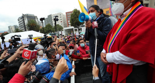 Yaku Pérez pide recuento voto a voto en 7 provincias / Foto EFE