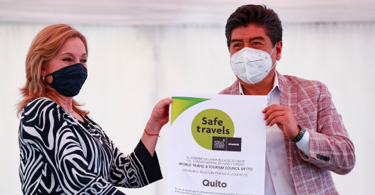 "Quito recibe el sello internacional de ""Safe travel"" / Foto: EFE"