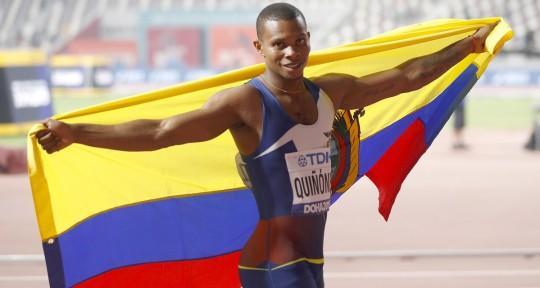 Alex Quiñónez, medallista mundial, fue suspendido por un año / Foto: EFE