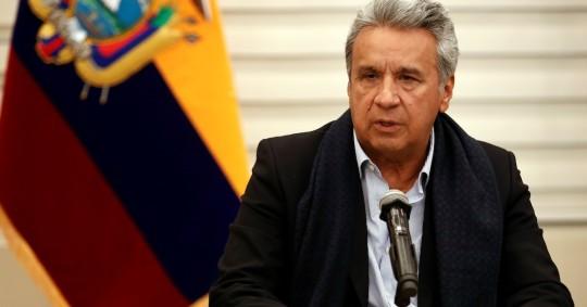 """Lenín Moreno pide """"calma"""" en espera de resultados de las elecciones / Foto EFE"""