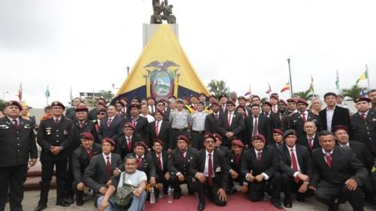 Un grupo de 159 excombatientes, entre oficiales, conscriptos, reservistas y miembros de resistencia, asistió al evento. Foto: Expreso