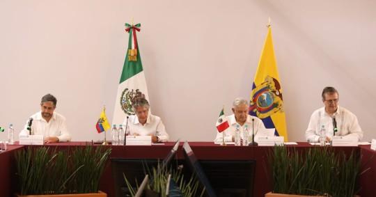 México y Ecuador impulsan su relación económica en una declaración conjunta / Foto: cortesía Presidencia