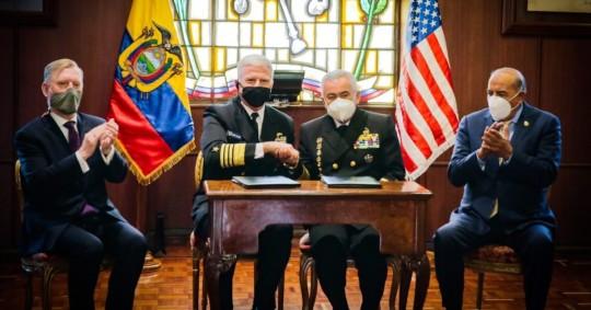 EE.UU. y Ecuador firmaron un memorando de entendimiento para combatir el tráfico de drogas / Foto: cortesía de la Embajada de los Estados Unidos