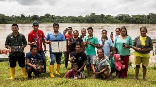 Las familias de la comunidad empezaron el cultivo de cacao en el 2012 y la semana pasada obtuvieron la certificación. Foto: El Comercio