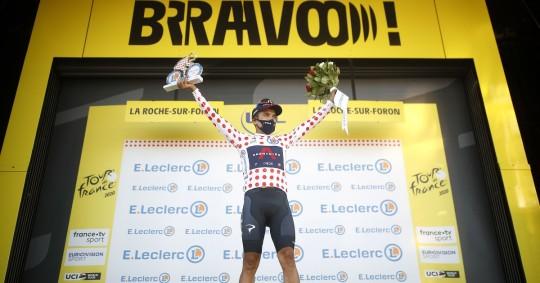Richard Carapaz, subcampeón de montaña del Tour de Francia / Foto: EFE