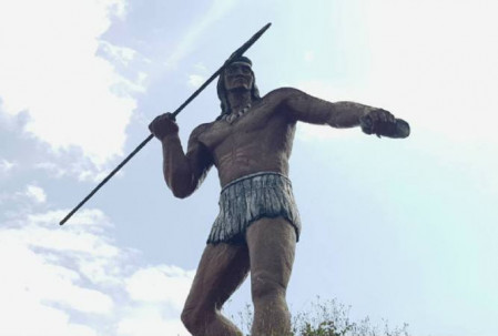 ARCHIDONA, Napo. Representación del guerrero indígena Jumandy. Foto: El Universo