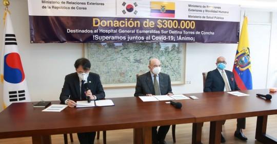 Corea del Sur dona 300.000 dólares a hospital en zona fronteriza de Ecuador / Cortesía de la Cancillería ecuatoriana