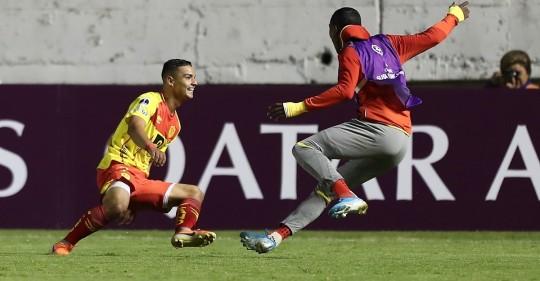 Aucas remontó en la Copa Sudamericana con doblete de Fydriszewski / Foto: EFE