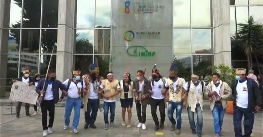Sáparas exigen a Gobierno revertir adjudicación de tierras / Foto: Cortesía CORAPE
