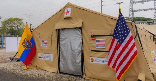 Gobierno de Estados Unidos donó dos hospitales móviles para luchar contra el Covid-19 / Cortesía de la Embajada de Estados Unidos