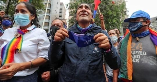 Yaku Pérez va segundo en conteo a falta de procesar 1,85 % de actas / Foto EFE