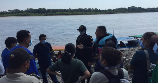 Fallecen 6 contratistas de Petroecuador en un accidente de bote / Foto: cortesía Armada del Ecuador