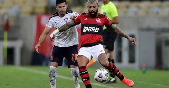 Liga empató ante Flamengo, pero quedó afuera de la Copa Libertadores  / Foto: EFE