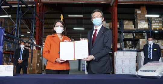 Japón donó 84 electrocardiógrafos al ministerio de Salud Pública / Foto: cortesía Ministerio de Salud