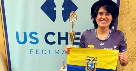 Carla Heredia, campeona del US Women Open de ajedrez/ Foto: cortesía Carla Heredia