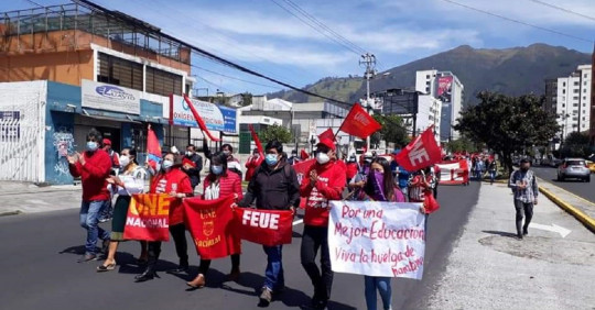 Universitarios de Ecuador se sumarán a jornada de protestas sociales / Foto: cortesía FEUE