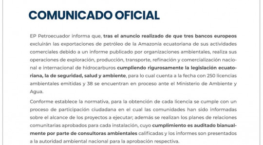 Petroecuador refuta denuncia ambientalista y expone sus licencias ISO / Foto: EFE